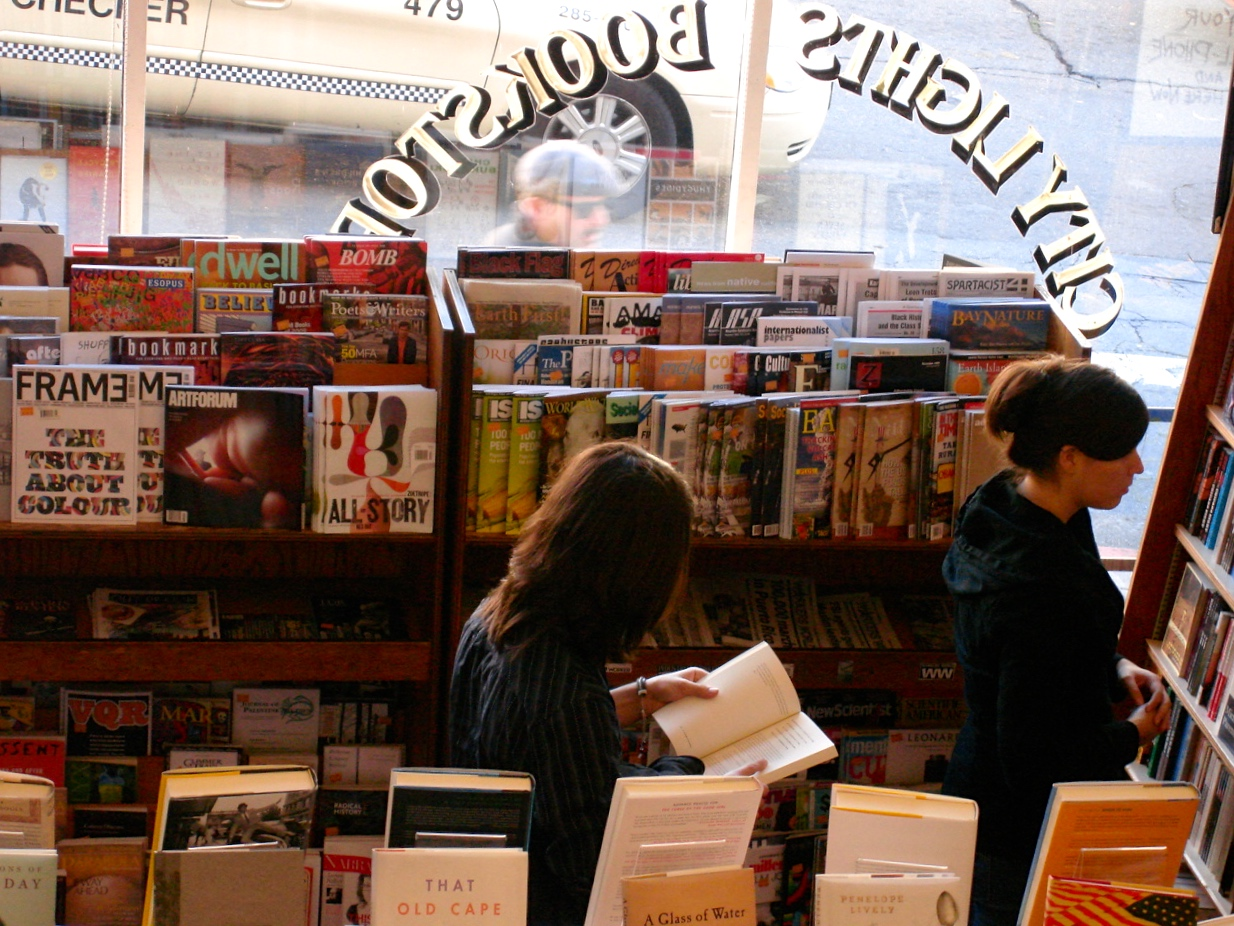 inside City Lights bookstore