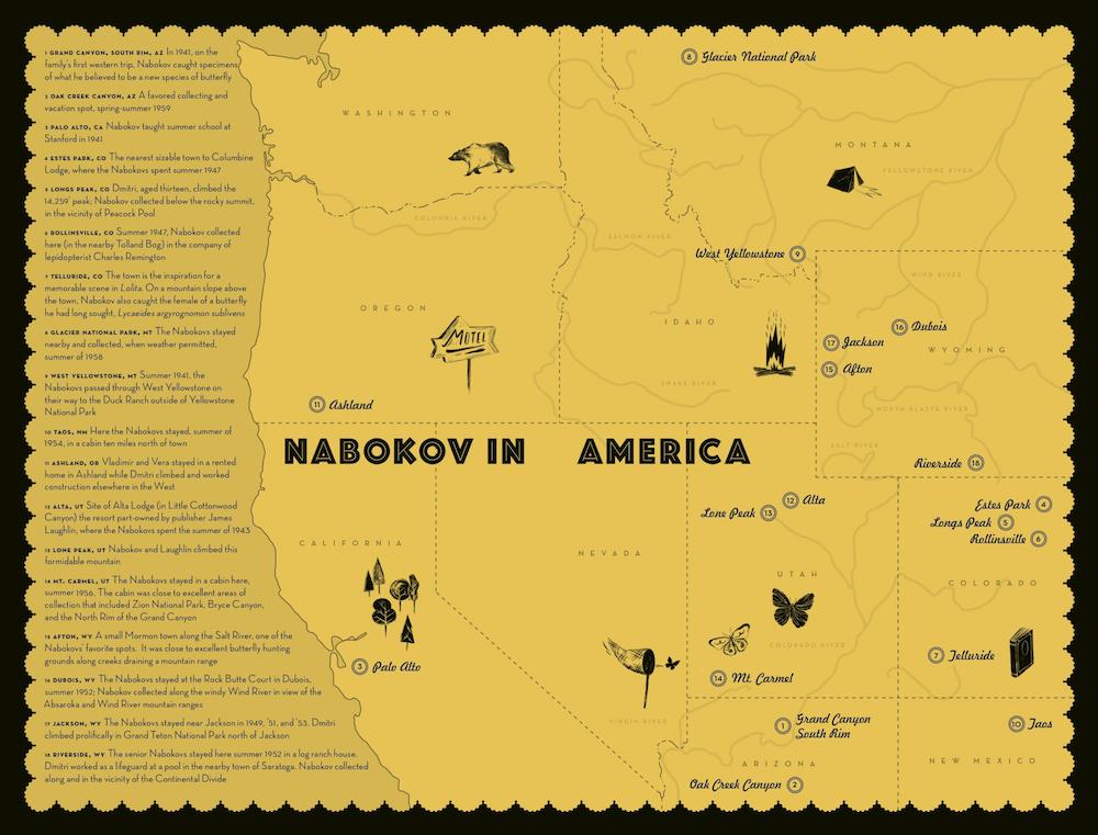 Nabokov in America: Map