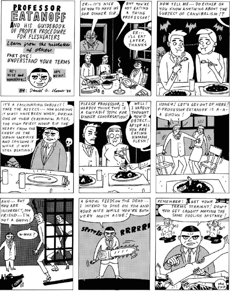 Daniel Clowes comic