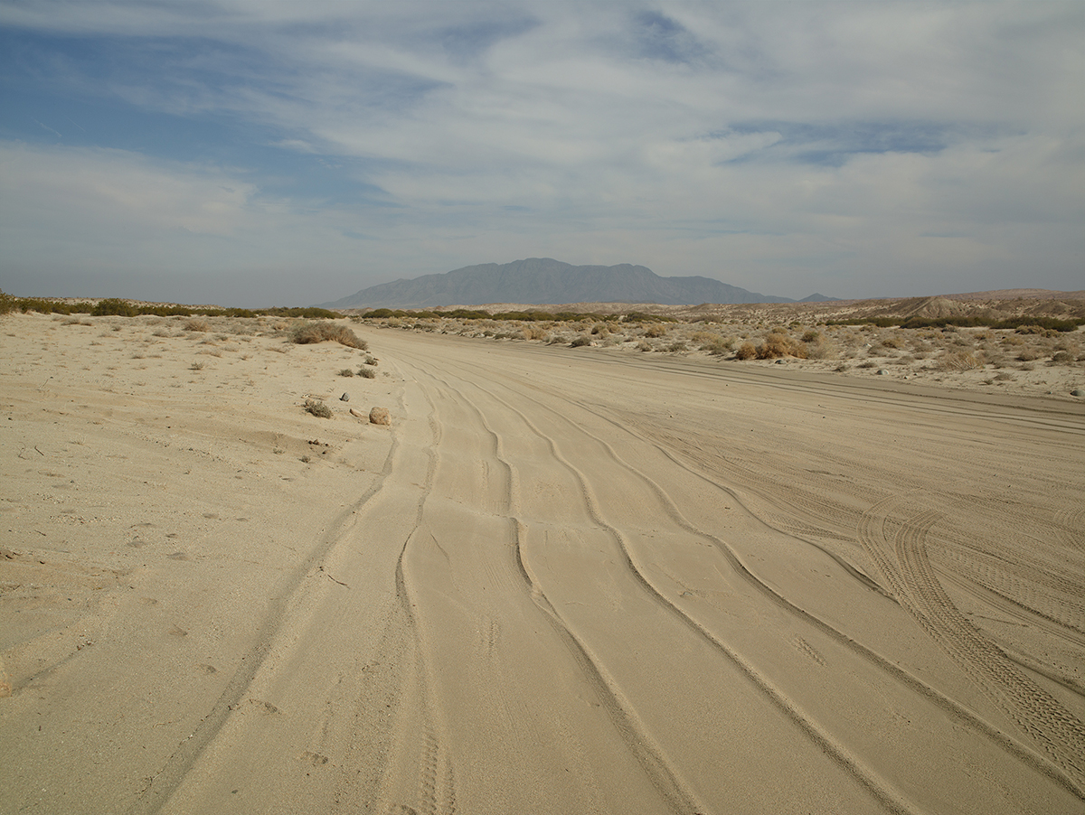 The drag tracks, near Calexico, California, 2014