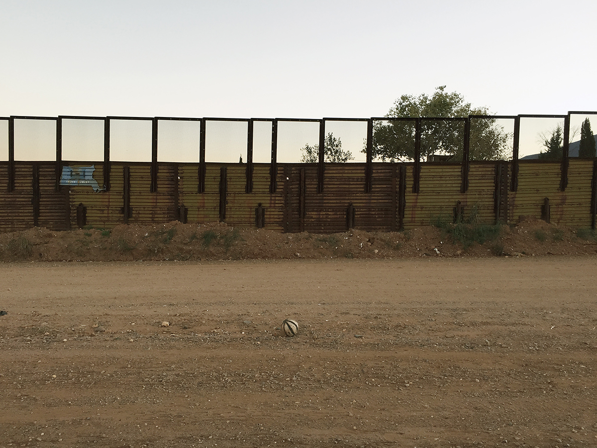 Soccer ball, Naco, Arizona, 2014