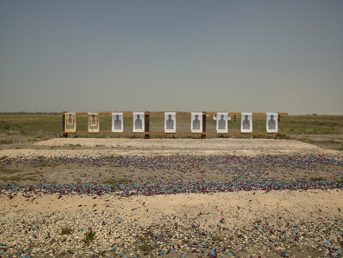 Richard Misrach, Border Patrol target range, Boca Chica Highway, near Gulf of Mexico, Texas, 2013, from Border Cantos (Aperture, 2016