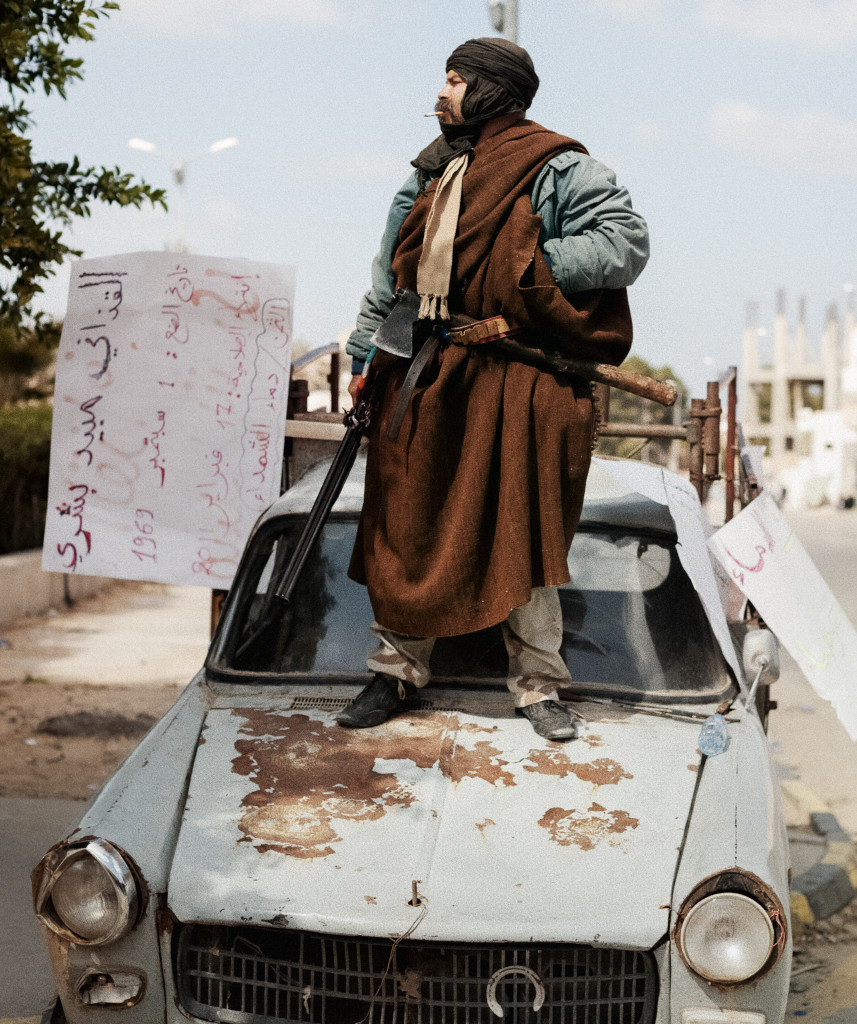 Zawiyah, Libya. February, 2011. Anti-Qaddafi rebel fighter.
