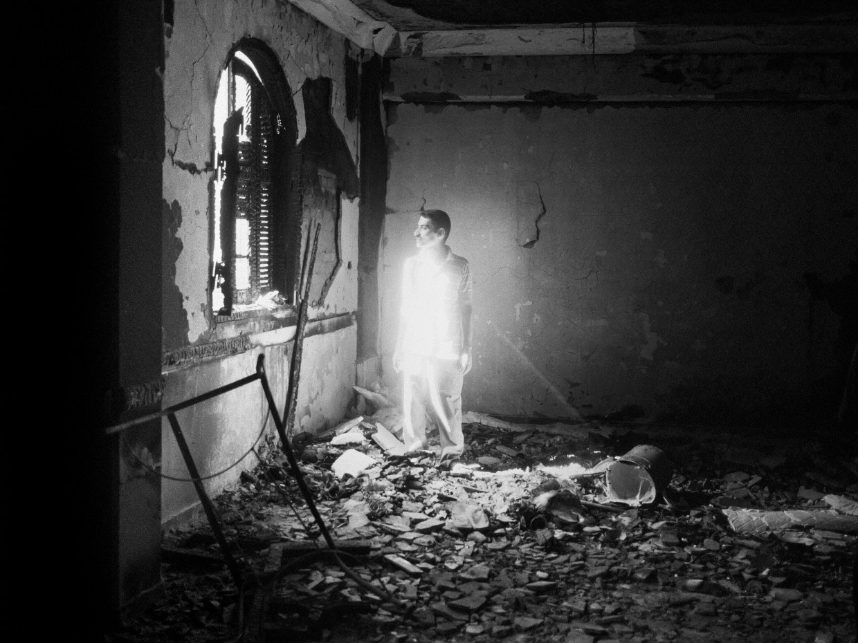 Al Nazla, Egypt. August, 2013. The Virgin Mary church in the village of Al Nazla, burned and looted by an Islamist mob during an episode of sectarian violence in Egypt.