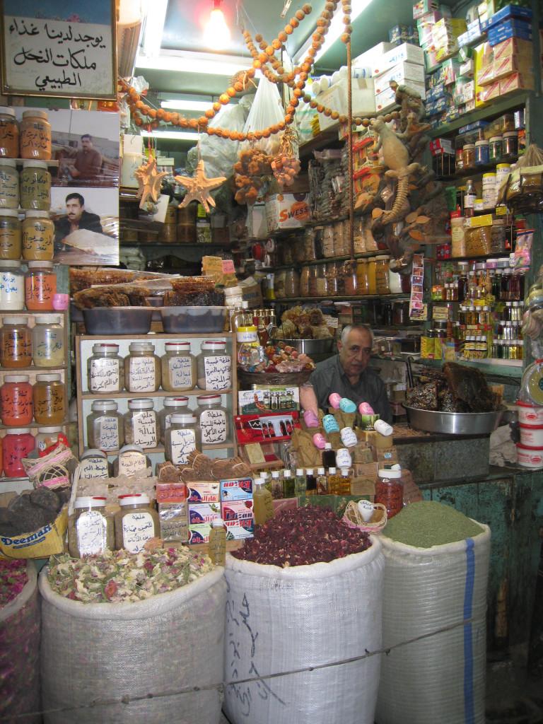 Levant stall in Souk in Aleppo