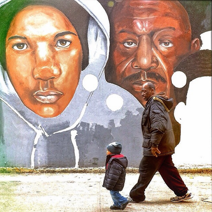 """""""Father and Son,"""" from Ruddy Roye's """"When Living is Protest"""" series."""