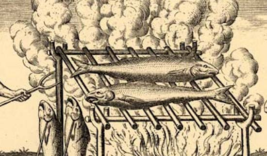 fish over fire