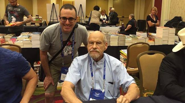 Lawrence Block and Dan Malmon. Photo by Erin Mitchell.