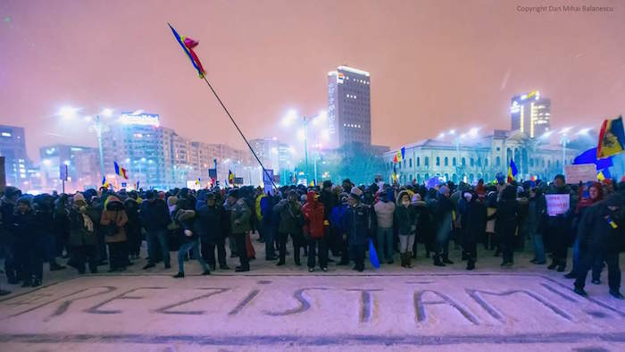 Bucharest protest