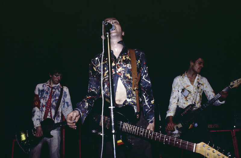 The Clash at the Royal College of Art, 5 November, 1976.