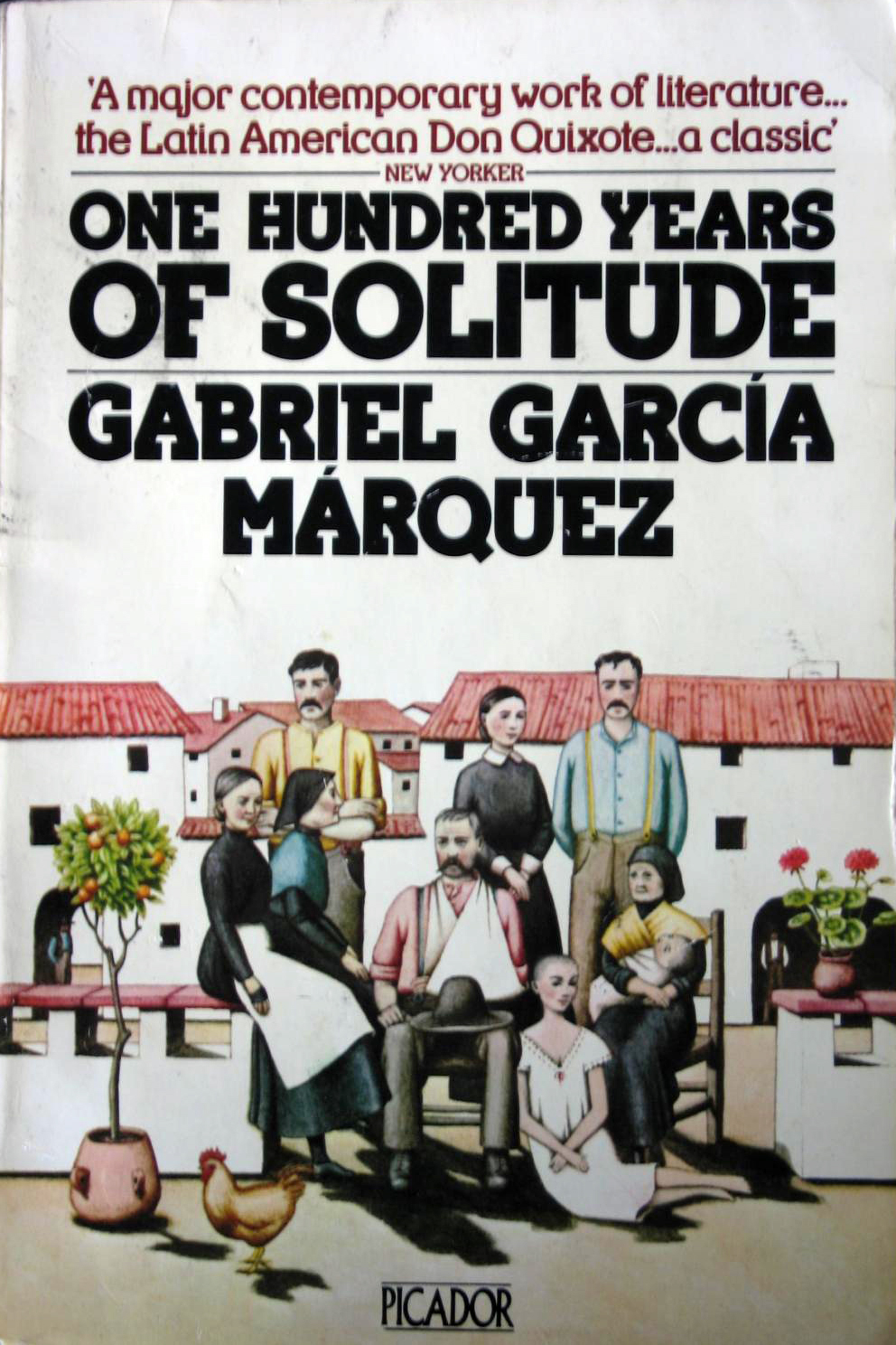 """Decor Gabriel Garcia Marquez /""""One Hundred Years of Solitude/"""" BOOK COVER print"""