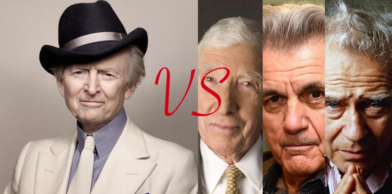 Tom Wolfe vs. John Updike, Norman Mailer, and John Irving