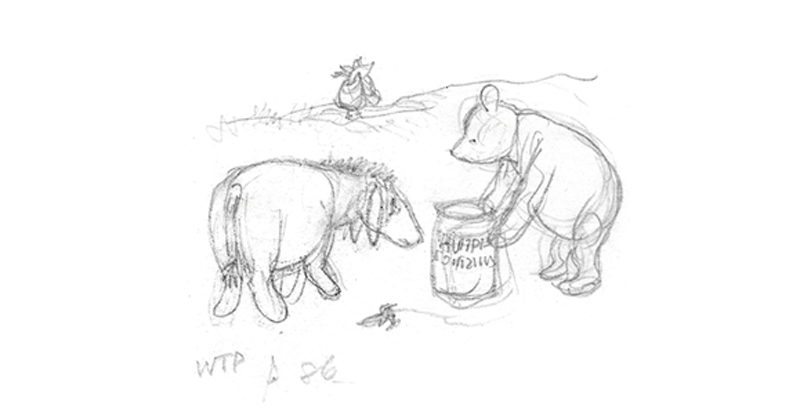 Some Of The First Sketches Of Winnie The Pooh Literary Hub