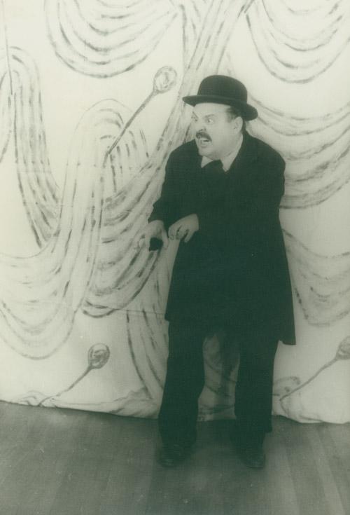 Zero Mostel as Leopold Bloom in Ulysses in Nightown, by Carl Van Vechten, October 29, 1958
