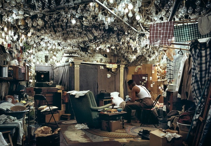 """After <em>Invisible Man</em> by Ralph Ellison, the Prologue,"" by Jeff Wall, 1946"