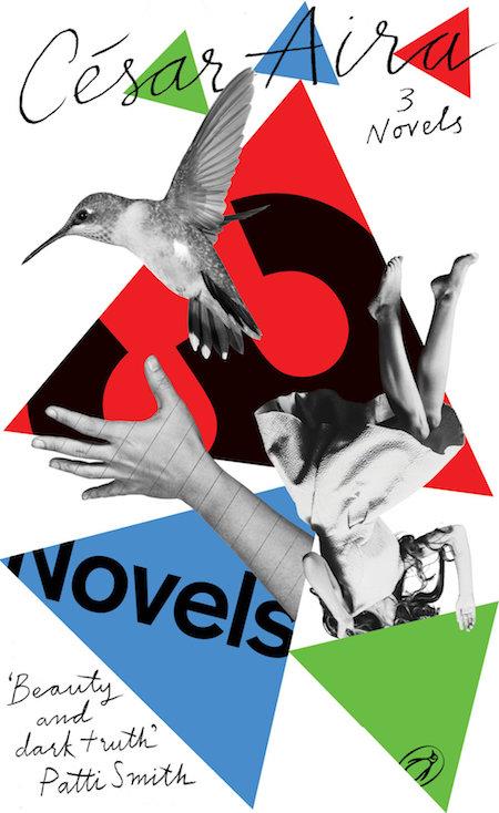 César Aira, <em>3 Novels</em>, design by gray318 (Penguin Essentials)