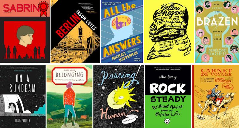 graphic literature, graphic memoir, graphic novel, Sabrina, Nick Drnaso, Passing for Human, Berlin, Jason Lutes, Belonging, Nora Krug
