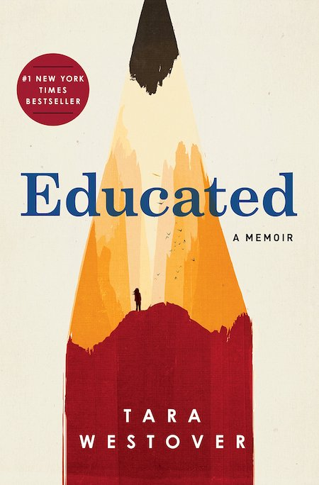 Tara Westover, Educated, cover illustration by Patrik Svensson