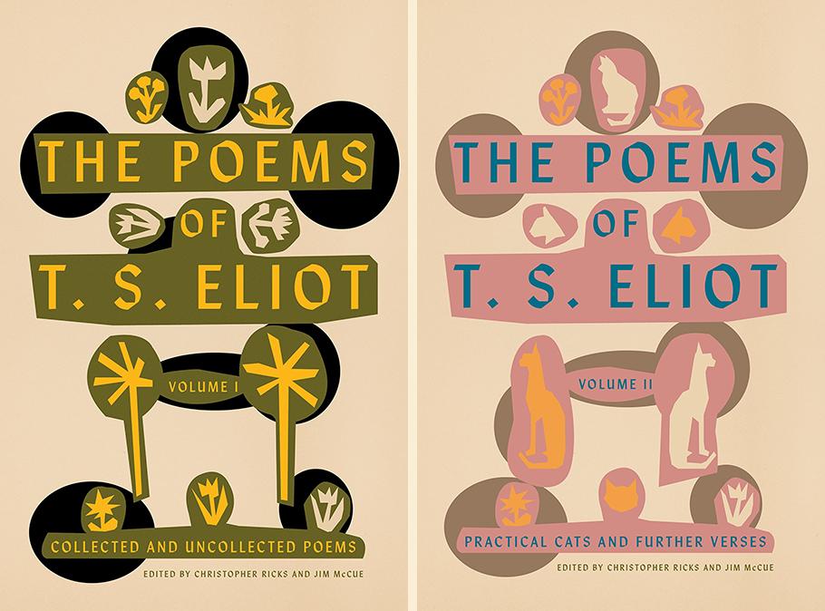 T. S. Eliot, <em>The Poems of T. S. Eliot Vol I & II</em>, design by Alex Merto (FSG)