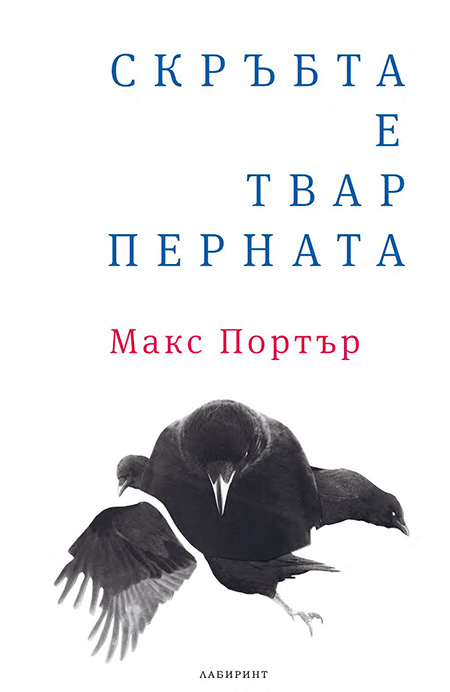 Max Porter, <em>Grief Is The Thing With Feathers</em>; unused design by Ivan Maslarov for Labyrinth, Bulgaria, 2016