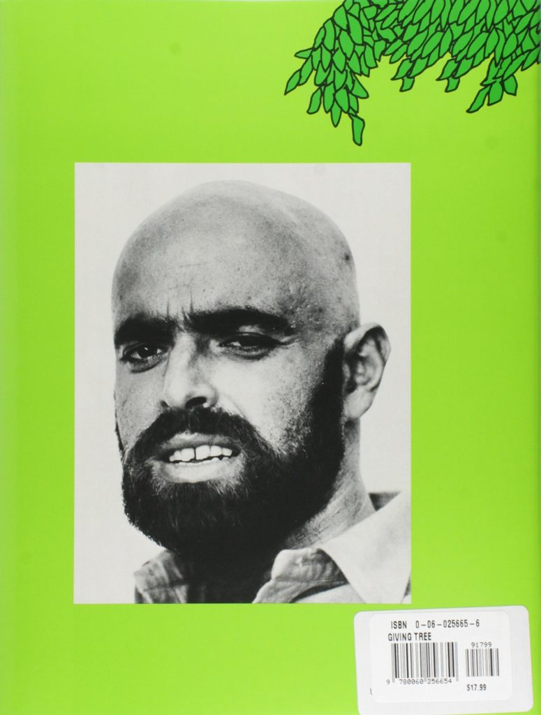 Shel Silverstein on the back of <em>The Giving Tree</em>