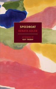 renata adler speedboat