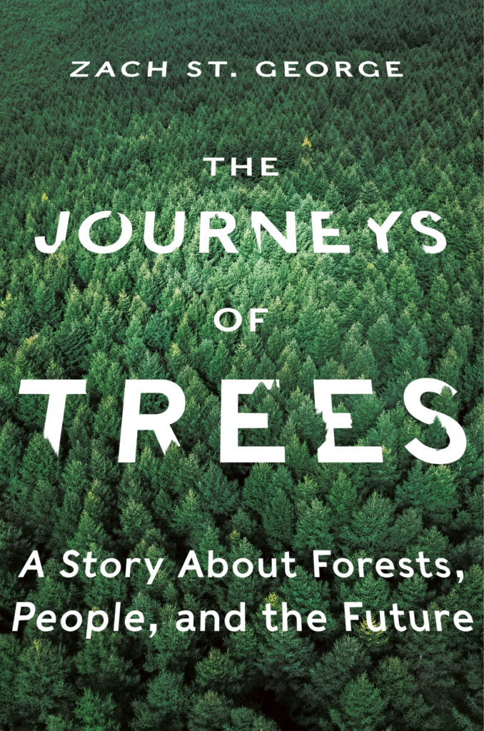 Zach St. George, <em>The Journeys of Trees</em>; cover design by Yang Kim; art direction by Ingsu Liu (W.W. Norton, July 14)