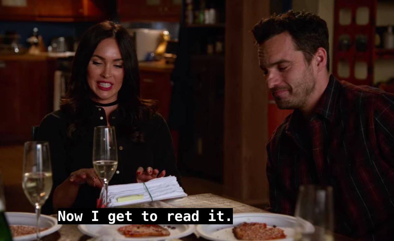reading, Megan Fox