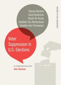 voter suppression in us elections, jim downs