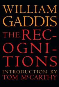 the recognitions_william gaddis