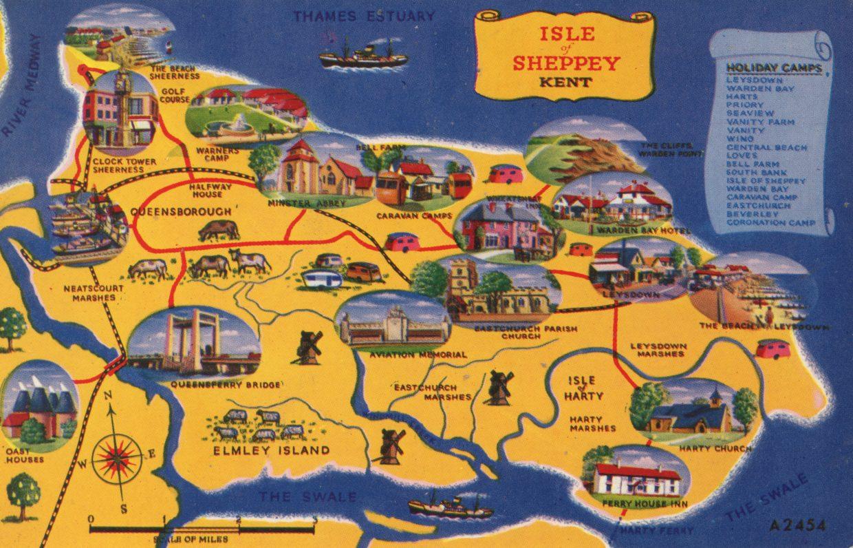 Sheppey postcard, circa 1965
