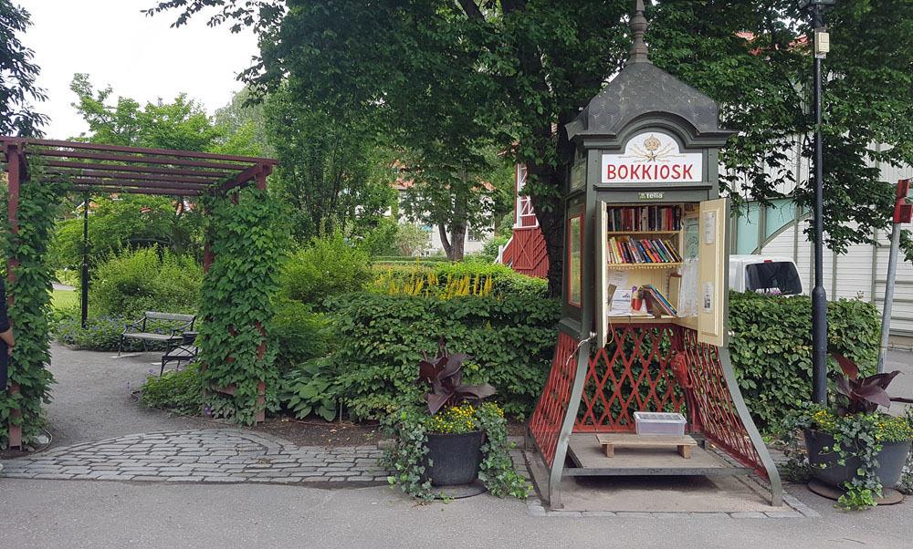 Rikstelefon Phone Box Library, Sigtuna, Sweden