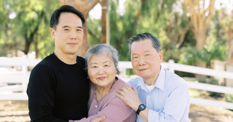 Charles Yu and his parents