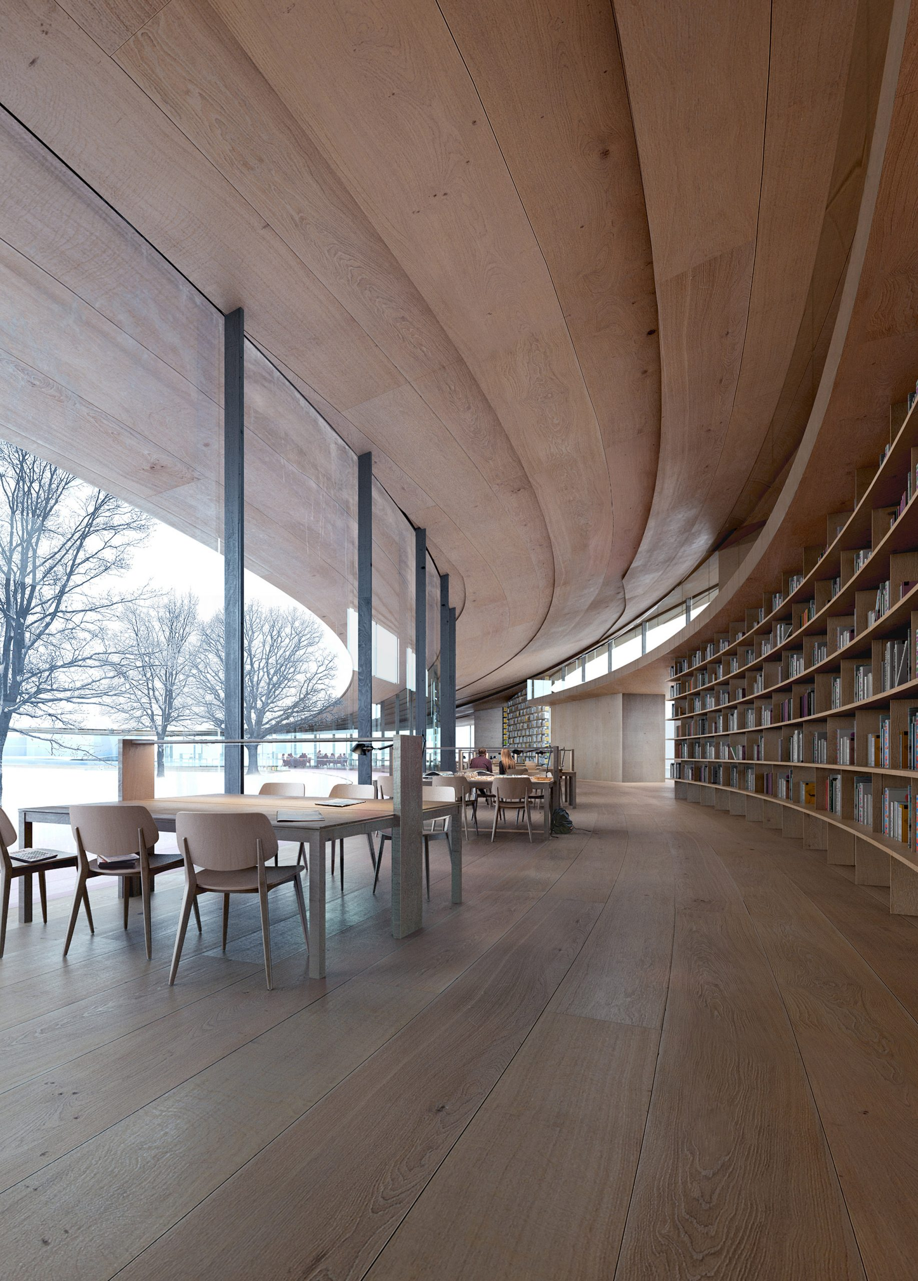 Take a look at the beautiful design for this Norwegian library dedicated to Henrik Ibsen.
