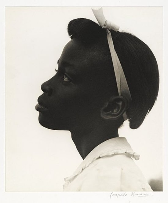 "African American Girl: ""Young Girl in Profile"" by Consuelo Kanaga, 1948"