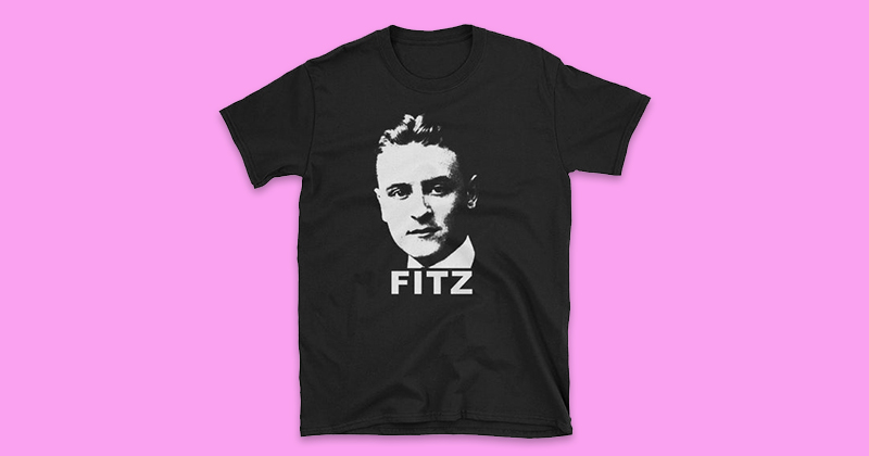 """Did you know that F. Scott Fitzgerald was the first writer to use the term """"T-shirt""""?"""