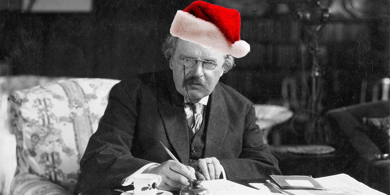 Famed mystery writer G.K. Chesterton proudly, sincerely believed in Santa Claus